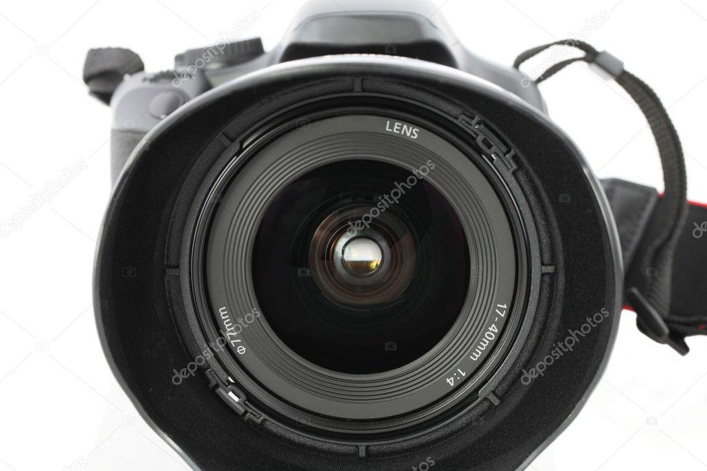 primer plano de la lente zoom gran angular — Foto de stock © jeffwqc ...