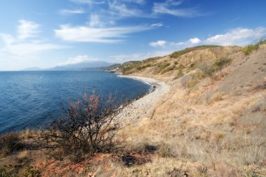 Black Sea coast in autumn, Crimea