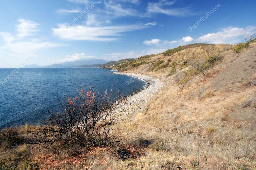 Black Sea coast in autumn, Crimea