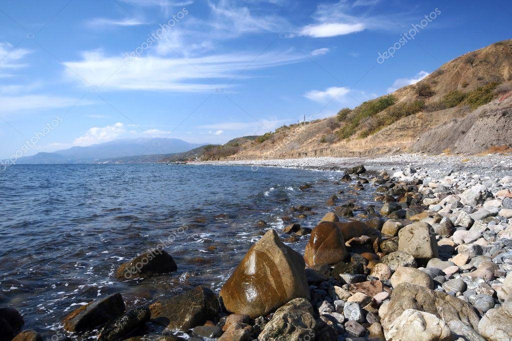 Black Sea coast in Crimea
