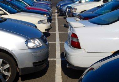 Crowded car park