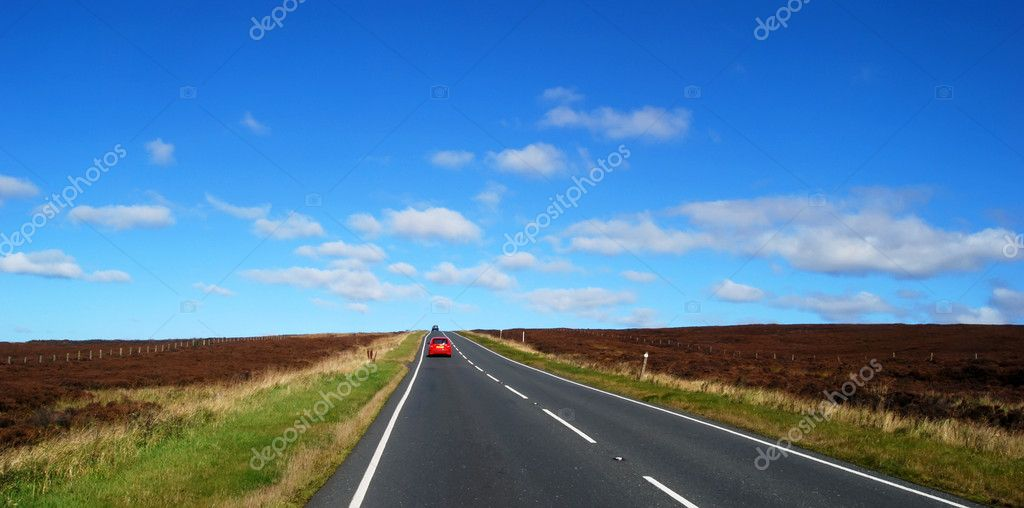 Yorkshire Moors road