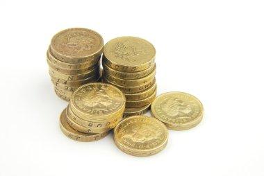 UK pound coins