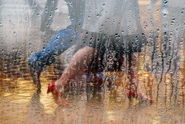 Rainday shoppers