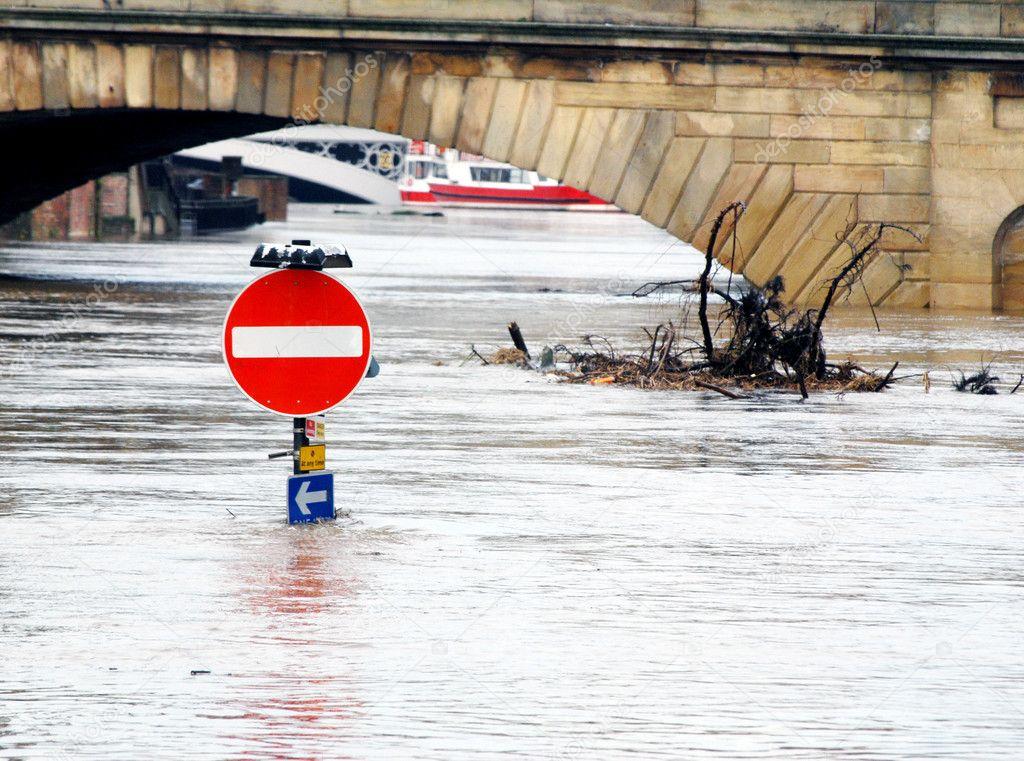 Flooded York