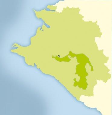 Map of Krasnodar Region without names