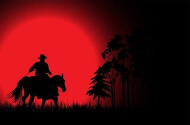 Cowboy an a horse 3