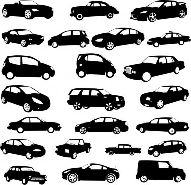 Cars collection - vector stock vector