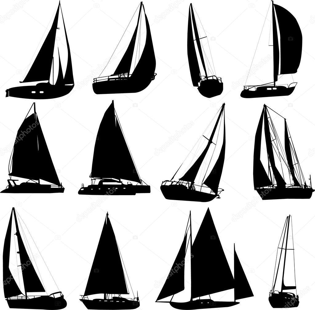Sailing boat — Stock Vector © bojanovic #2444273