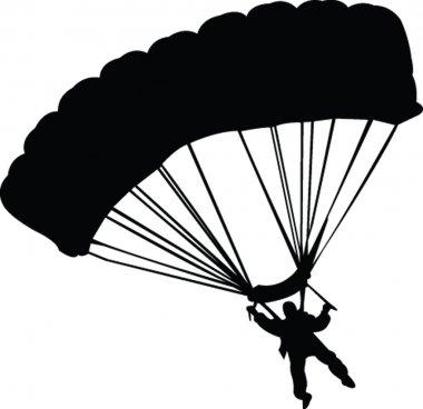 Parachutist silhouette