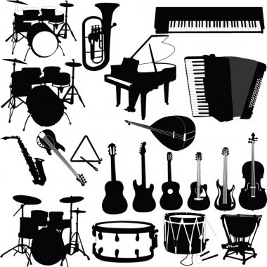 Musical instruments - vector stock vector