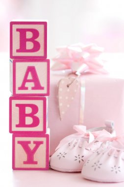 Pink baby building blocks