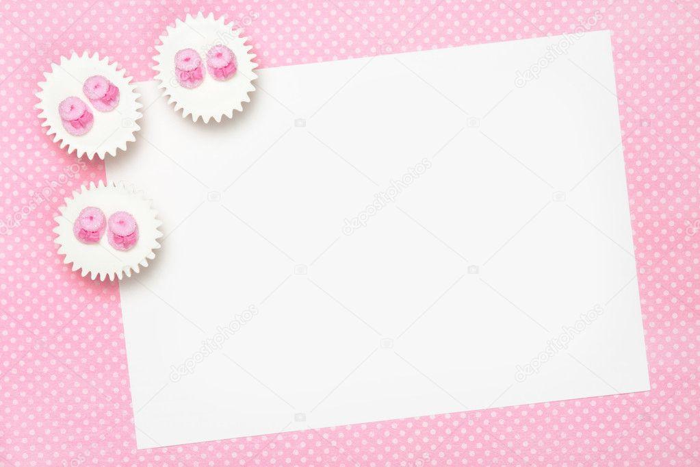 Blank baby shower invitation — Stock Photo © RuthBlack #2054192
