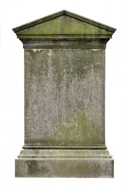 Blank gravestone, ready for an inscription stock vector