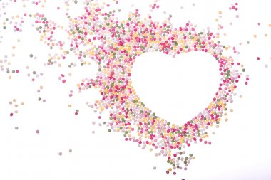 Heart made of sprinkles