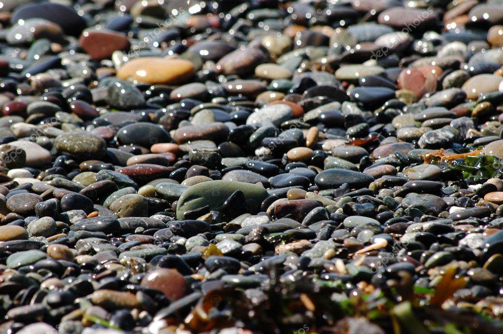 Sparkling beach pebbles