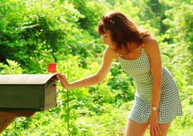 Girl Checking Mail