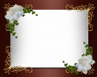 Wedding Invitation border elegant