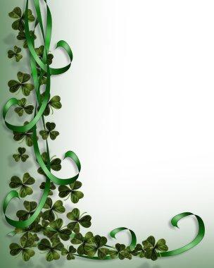 St. Patricks Day Shamrocks Border