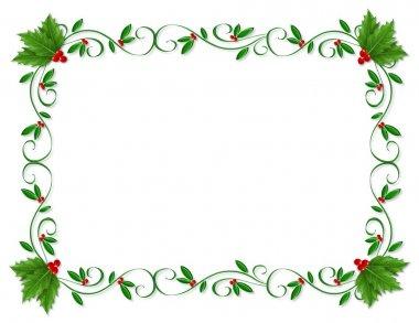 Christmas Holly Border ornamental