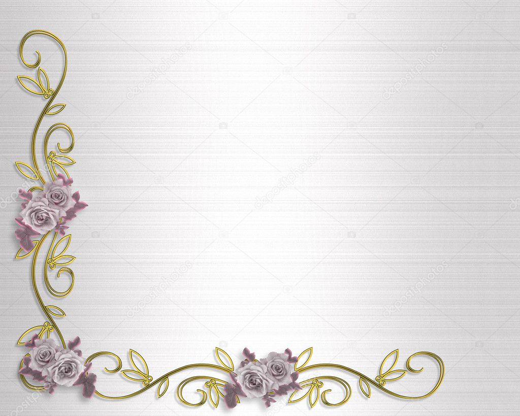 Roses Border Lavender Wedding Invitation — Stock Photo © Irisangel ...