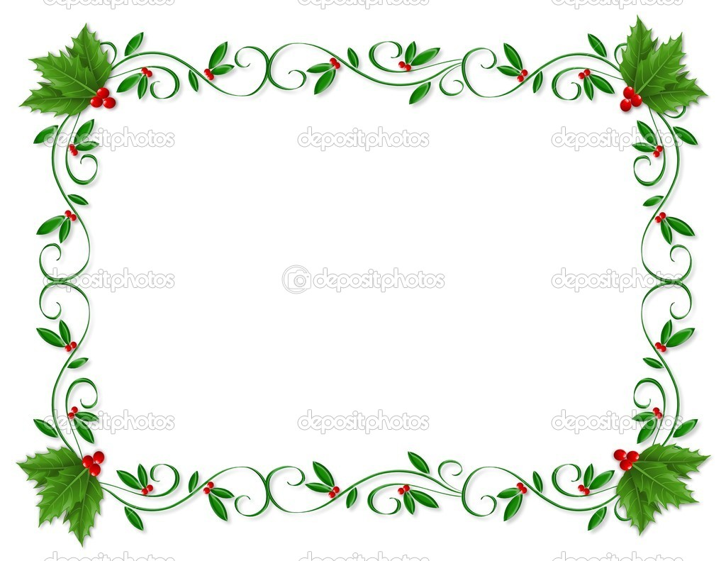 christmas holly border ornamental ⬇ stock photo image