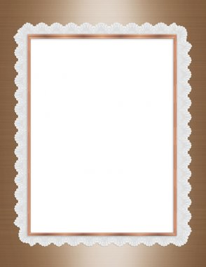 Satin and lace border frame