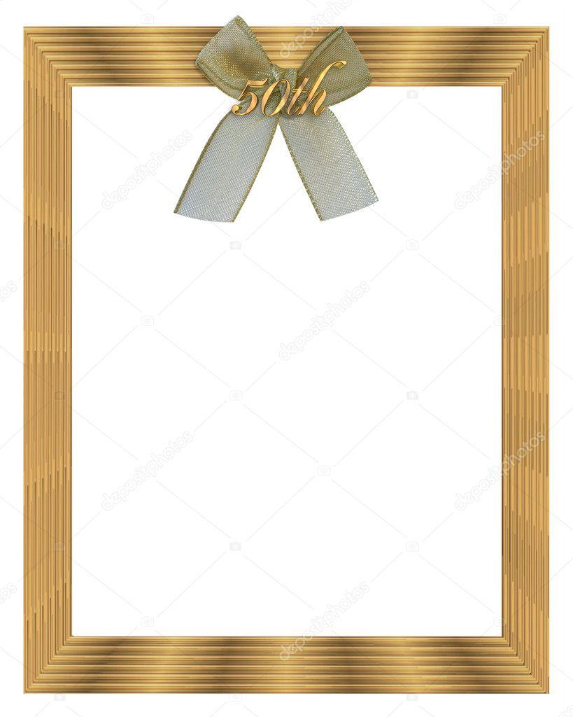 50th Wedding Anniversary Frame Stock Photo