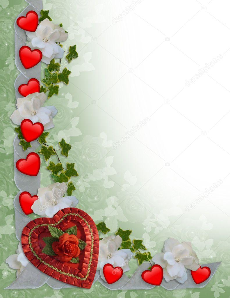 Valentines Day Border Hearts U2014 Stock Photo #2129062