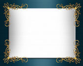 Wedding invitation border Elegant satin