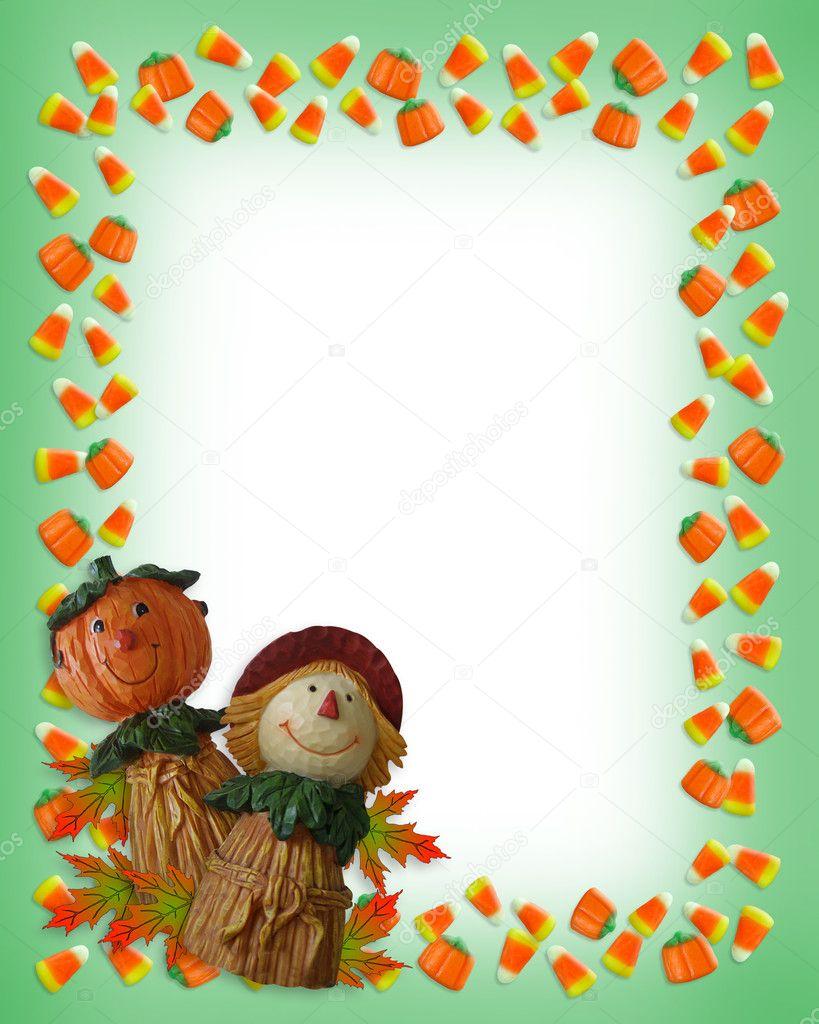espantapájaros de frontera calabaza de Halloween — Foto de stock ...