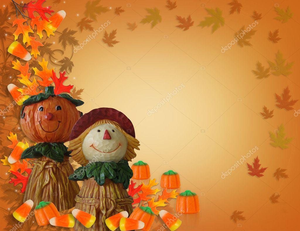 espantapájaros de frontera calabaza de Halloween — Fotos de Stock ...