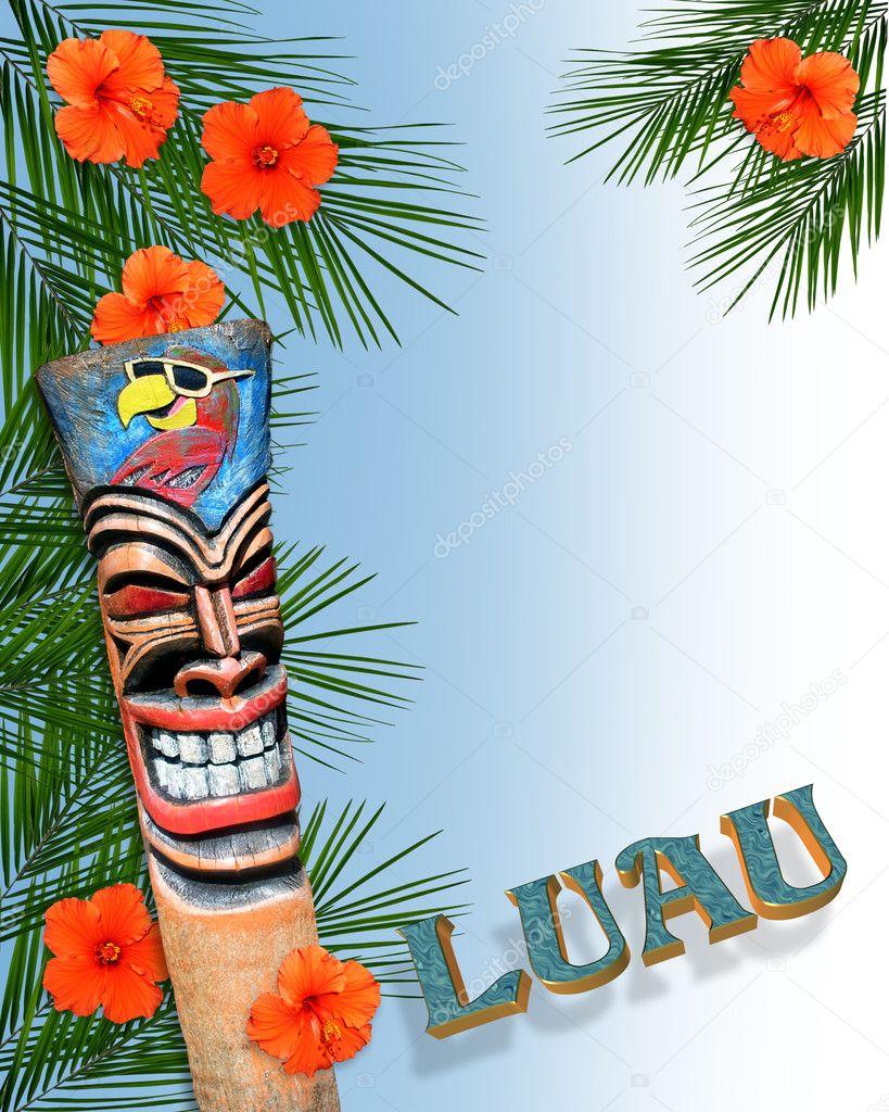 Luau border tropical invitation