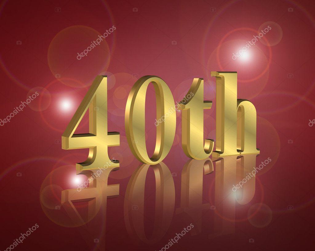 Festa Compleanno 40 Anni ᐈ torta con 40 candeline immagini di stock, fotografie 40