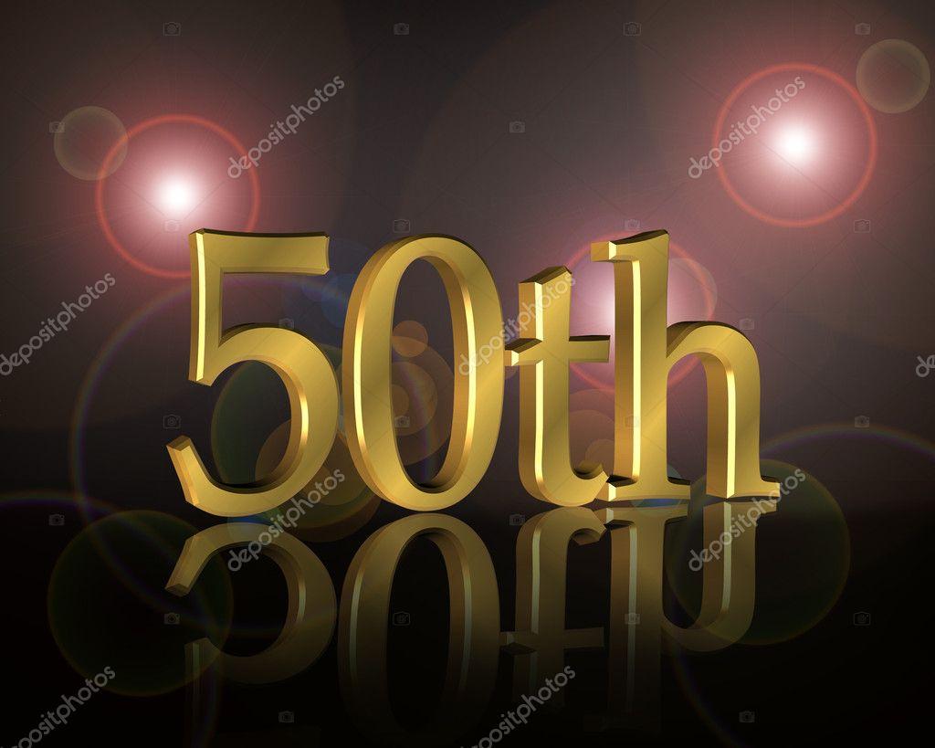50th Birthday party Invitation — Stock Photo © Irisangel ...
