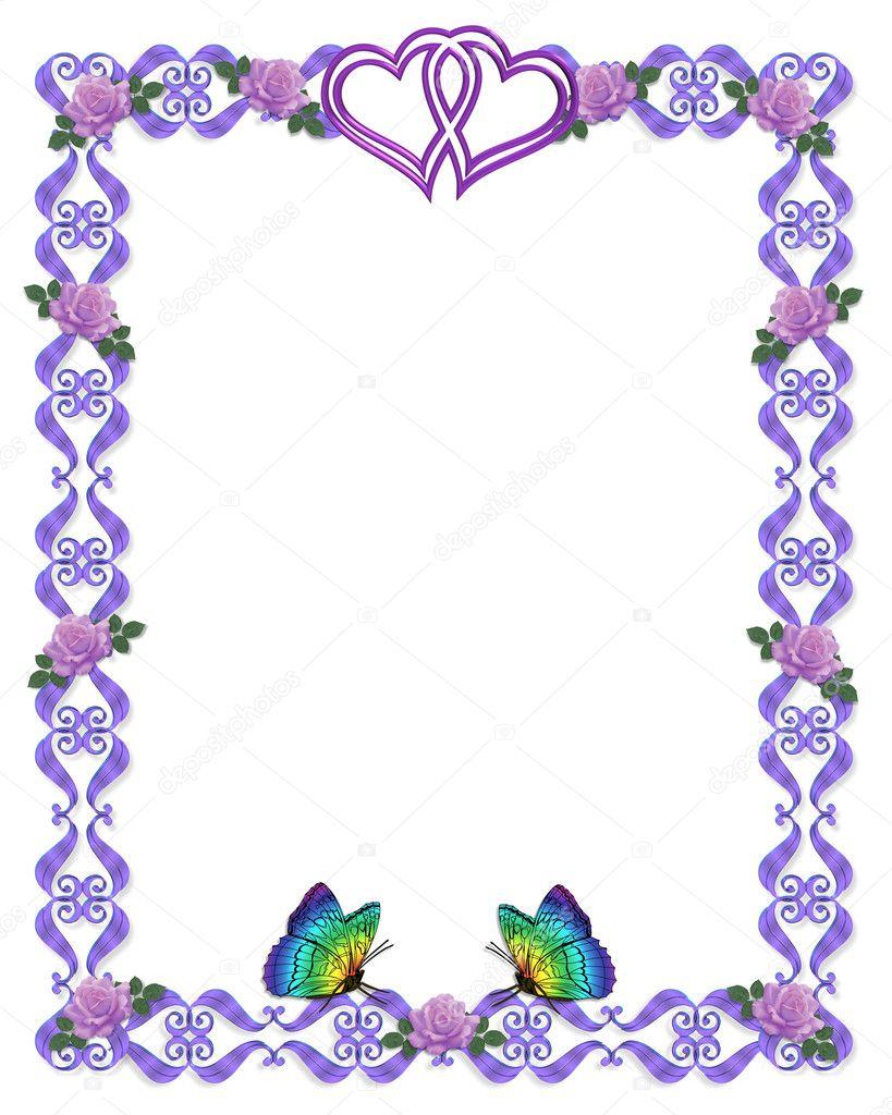 wedding invitation border butterflies stock photo 2145699 - Wedding Invitation Borders