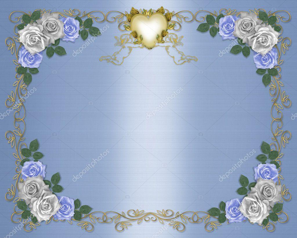Blue Wedding Invitation Background: Wedding Invitation Background Elegant