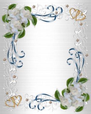 Wedding Invitation border Gardenias