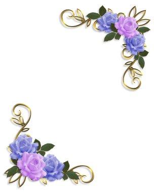 Corner design Blue and Lavender