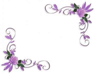 Lavender roses corner designs