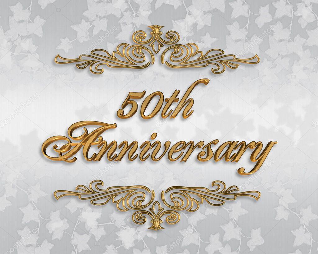 50th Wedding anniversary invitation — Stock Photo © Irisangel #2155556