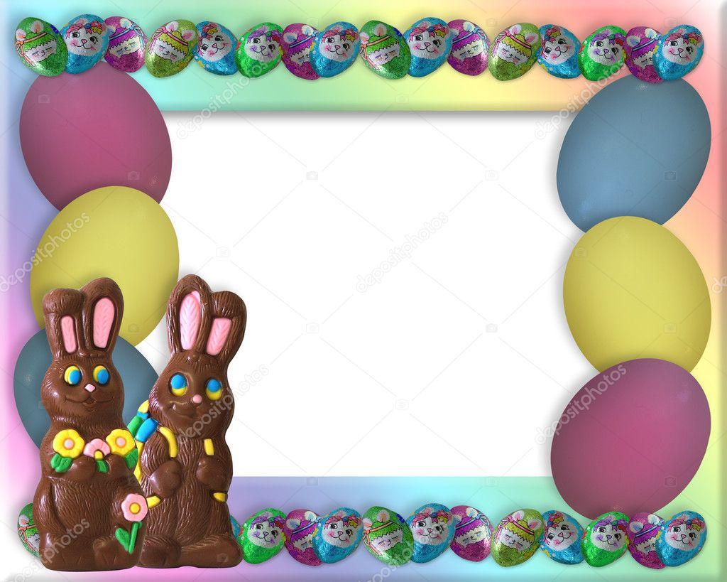 easter candy frame border u2014 stock photo irisangel 2176697