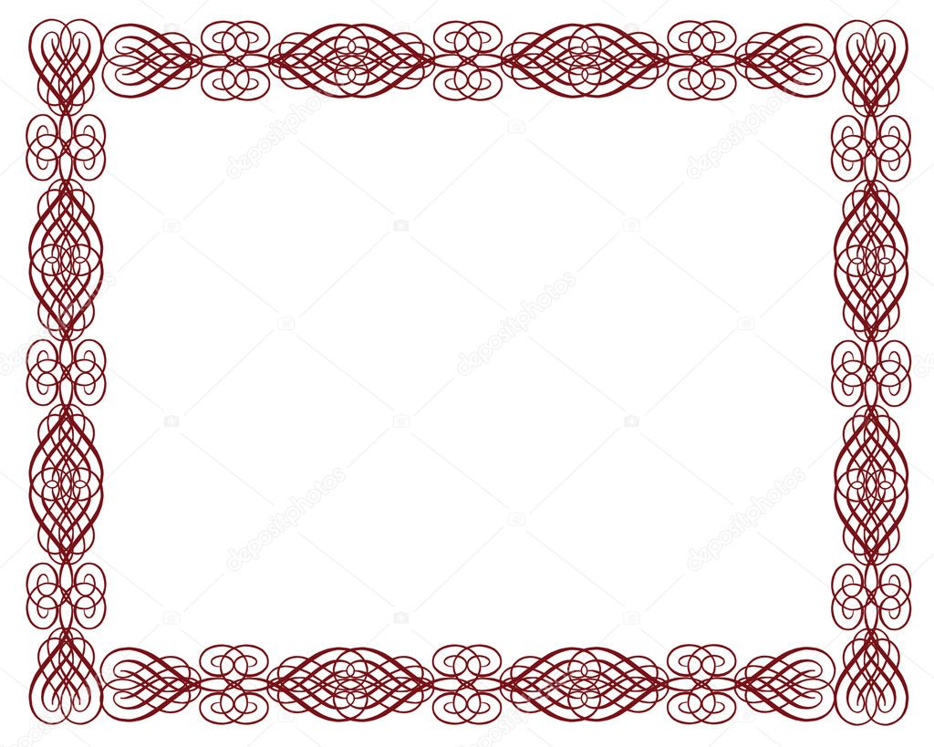 Ornamental certificate border red stock photo irisangel 2177052 ornamental certificate border red stock photo 1betcityfo Images