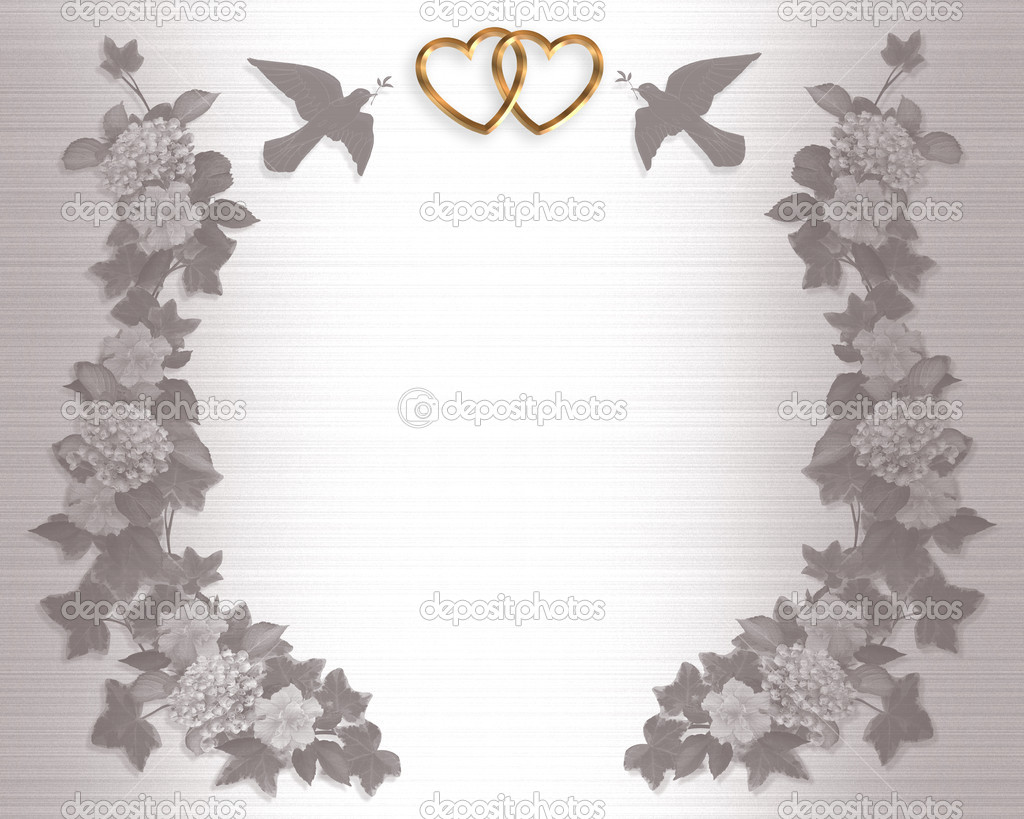 Wedding Invitation Background doves — Stock Photo © Irisangel #2177194