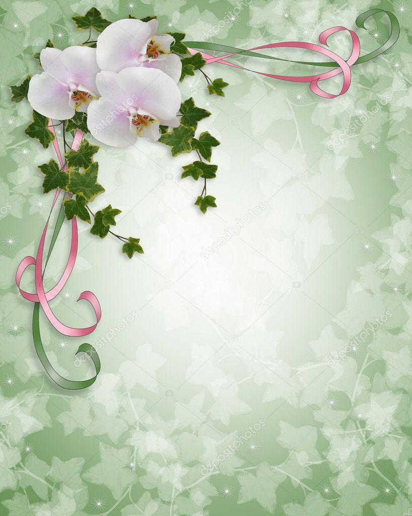orchideen und efeu hochzeitseinladung stockfoto irisangel 2178175. Black Bedroom Furniture Sets. Home Design Ideas