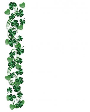 St. Patricks Day Border Shamrocks