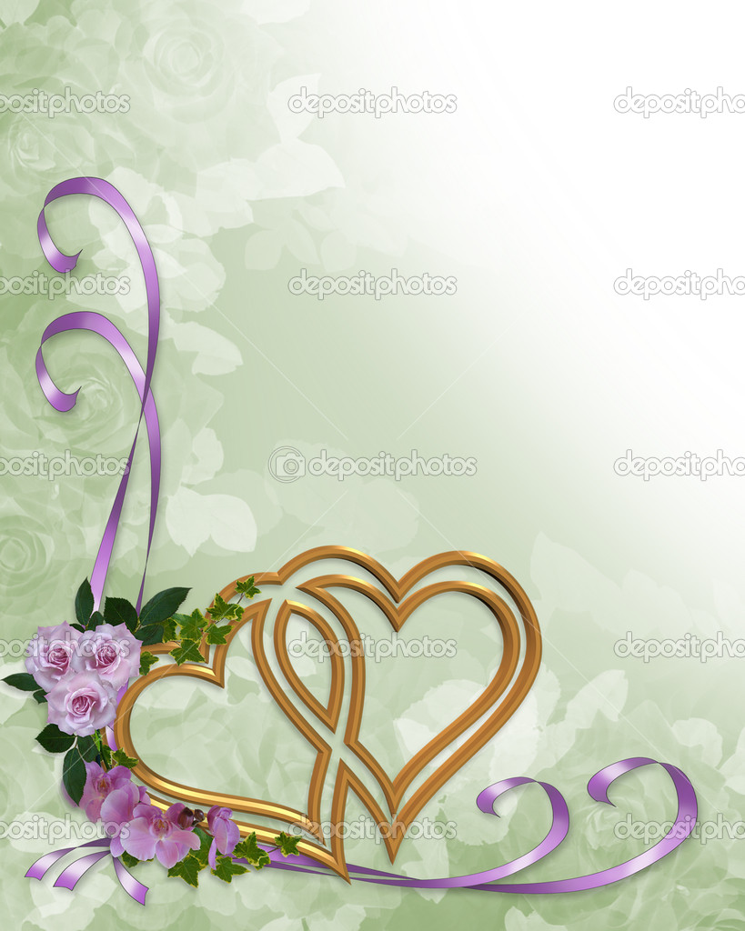 wedding invitation gold hearts � stock photo 169 irisangel