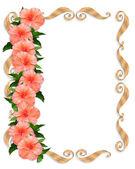 Hibiskus-Hochzeit-Blumen-Grenze