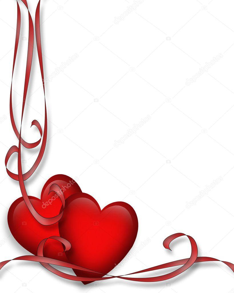 Valentines Day Red Hearts Border U2014 Stock Photo #2241466
