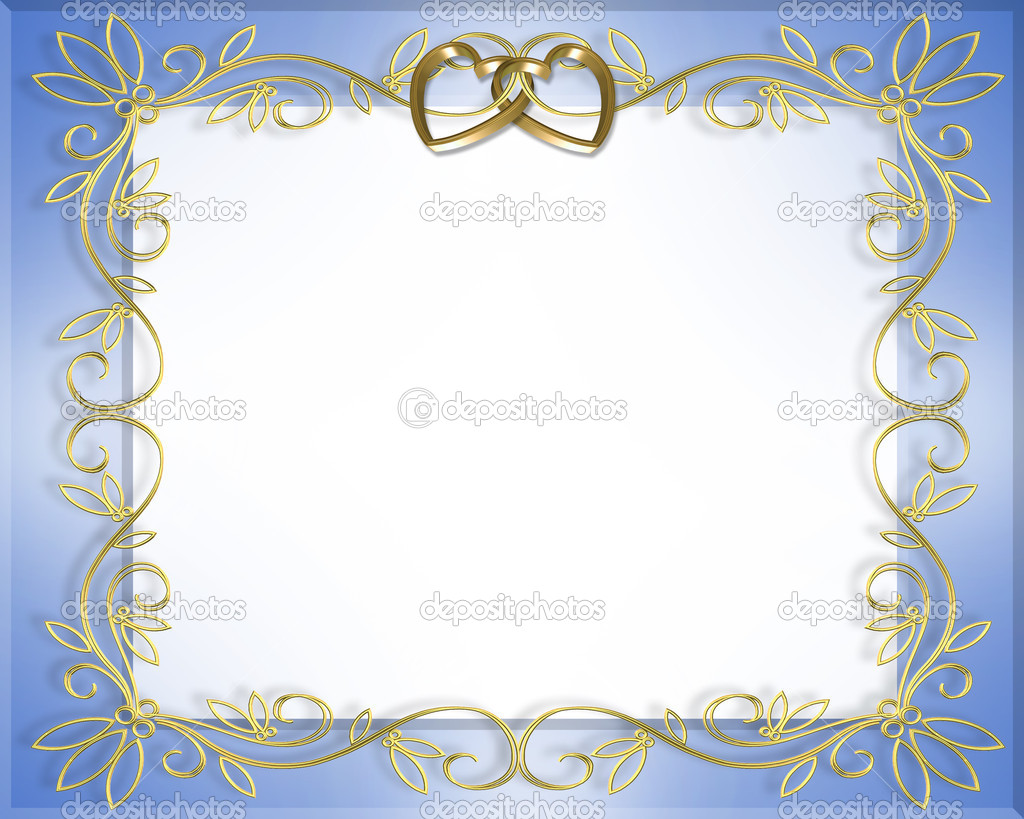 Satin and gold hearts wedding invitation — Stock Photo © Irisangel ...